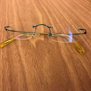 Green+ yellow 平光眼鏡