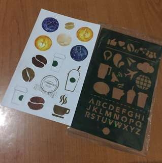 Starbucks stencils and stickers