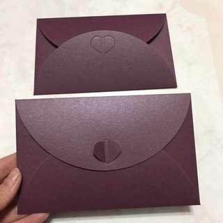深紫色珠光面信封200個 請柬喜帖信封 邀請卡封套 250g