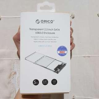 Orico Transparent 2.5 inch SATA USB 3.0 Enclosure