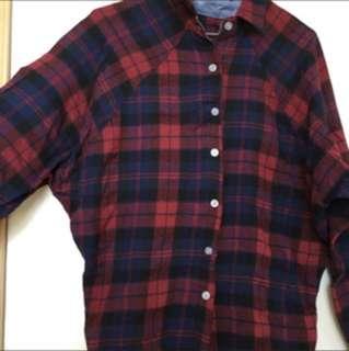 紅藍格仔恤衫
