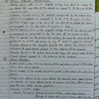 A Level H2 Physical Chemistry Notes