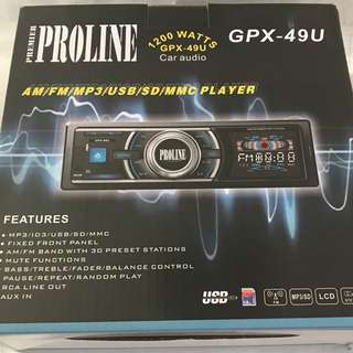 Brandnew Proline 49u Car Stereo
