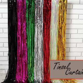 Shimmery Party Tinsel Curtains