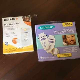 Lansinoh & Medela Breastmilk Storage Bags