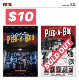 """Red Velvet""""PEEK-A-BOO""""poster"""