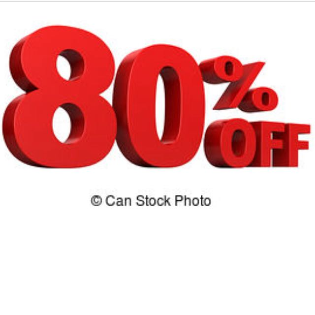 80% for women clothes only