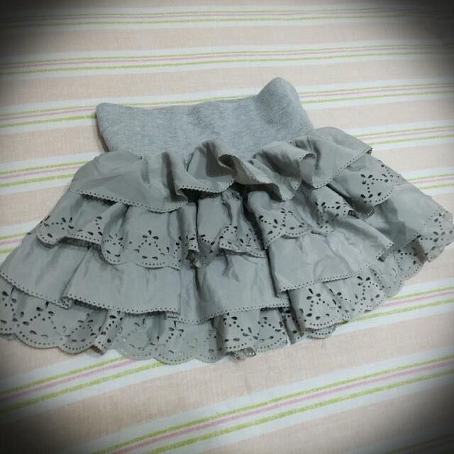 蛋糕褲裙(灰)