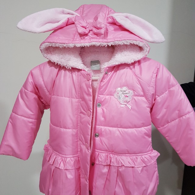 奇哥 舖毛粉紅色外套