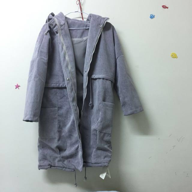全新🤤暖暖的灰色大衣 #手滑買太多