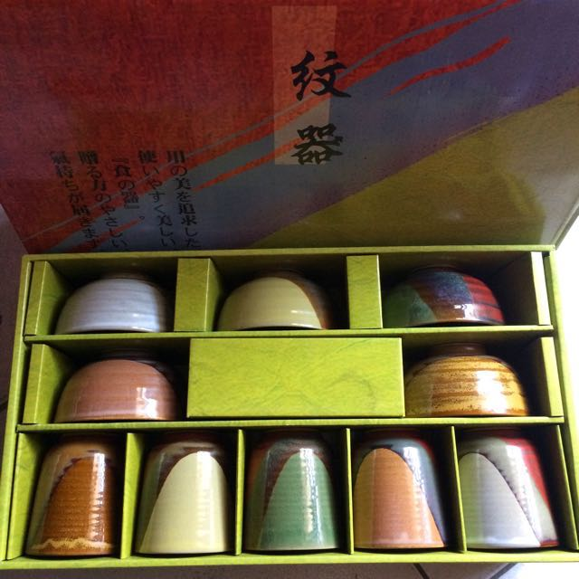 紋器 陶藝食器杯碗組 藝術品