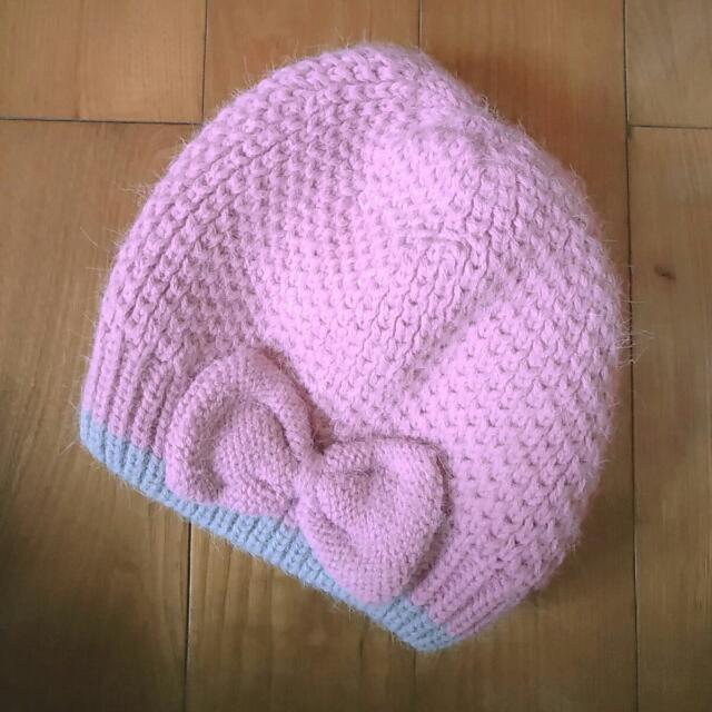 雙色 內鋪棉 針織毛帽