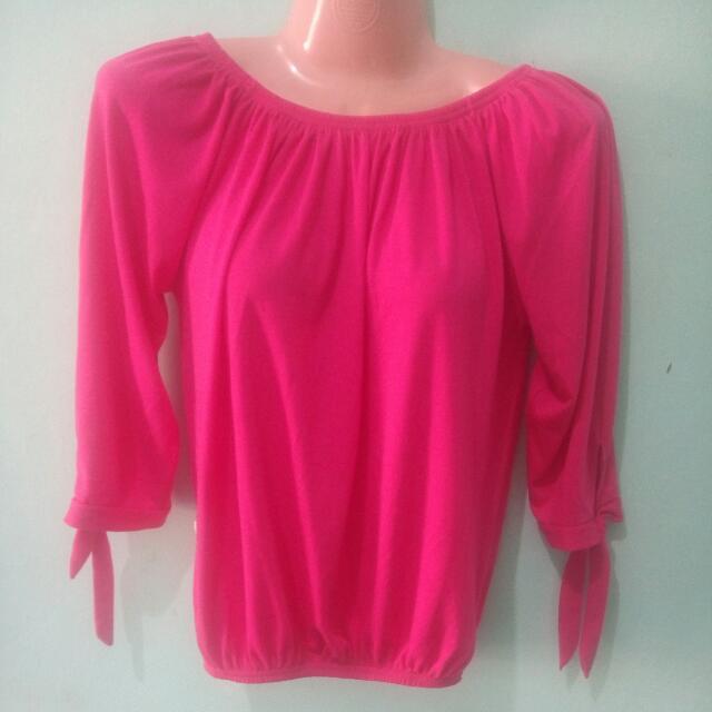 🌻 Preloved Pink Off Shoulder