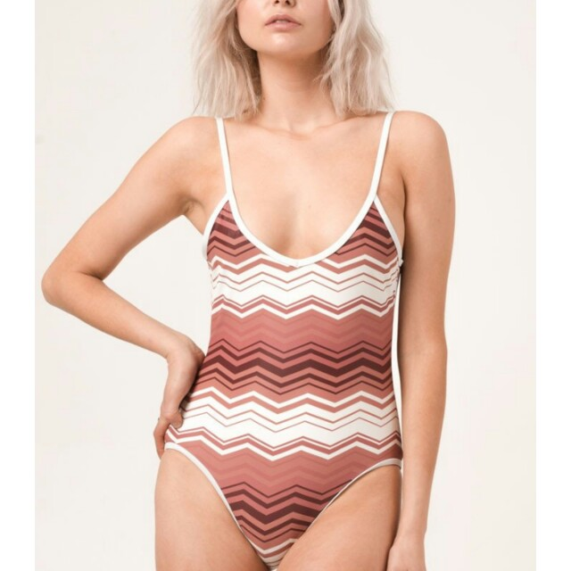 AFENDS Zig Zag 70's vintage retro one piece swimsuit bodysuit sz 6 NWT $109 !!!
