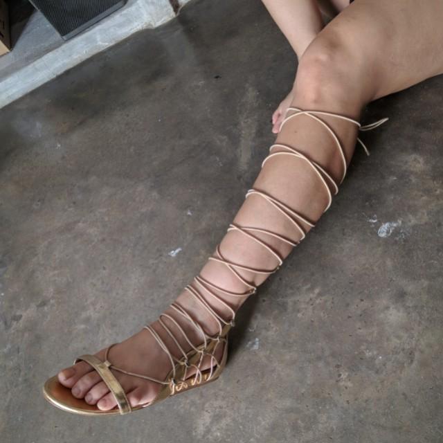 45cffeeec30 ALDO Knee High Gladiator Sandals