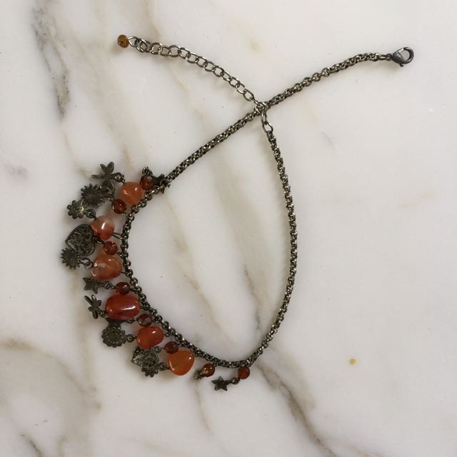 Amber charms necklace