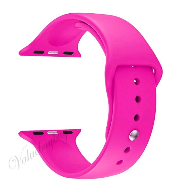 Apple watch 42mm silicone hot pink