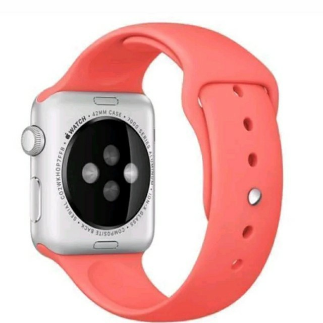 Apple watch band 42mm coral silicone