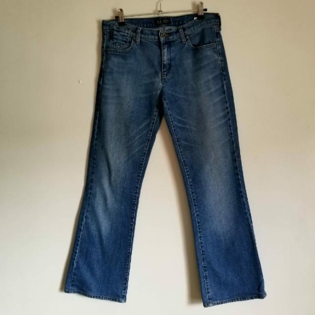 Armani Jeans Faded Straight Cut Jeans
