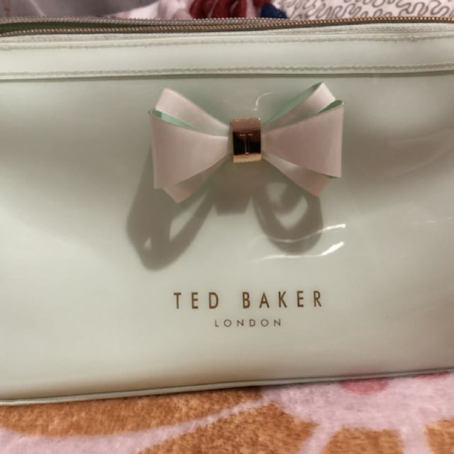 Authentic Ted Baker Mint Bow Triangle Make up & Wash bag