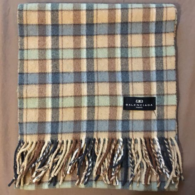 BALENCIAGA巴黎世家格紋圍巾