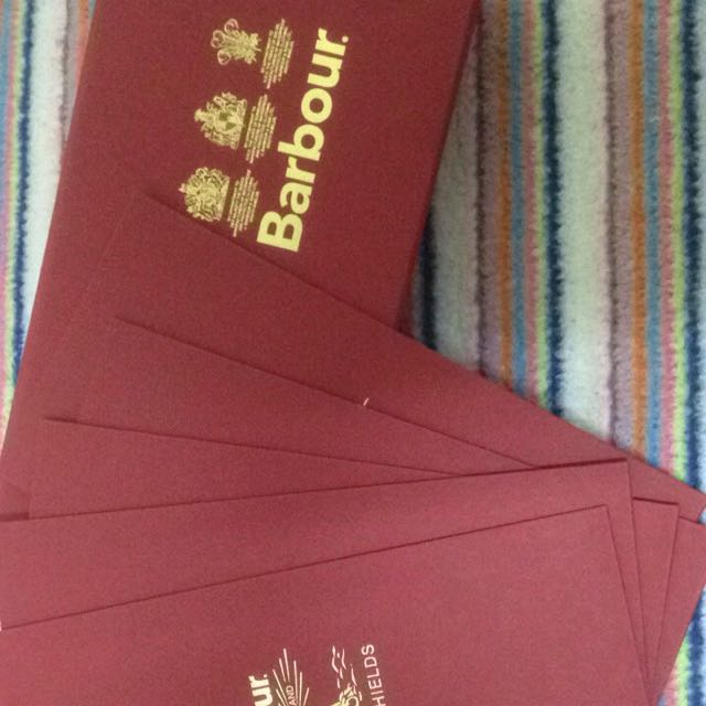 Barbour專櫃品牌紅包袋五個