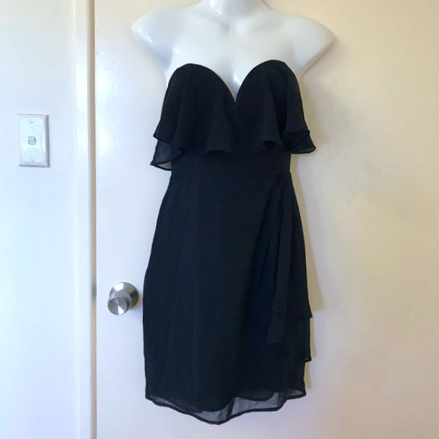 Black Seduce sweetheart floaty dress Size 12