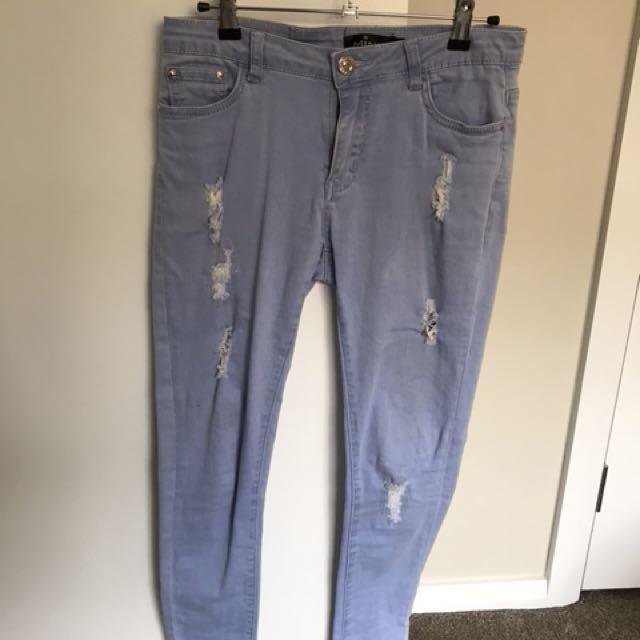 Blue Ripped Denim Jeans