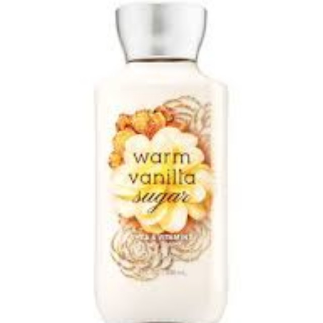 Body lotion - bath and body works -warm vanilla sugar