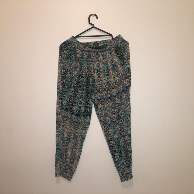 Bohemian style pants size 10 womens