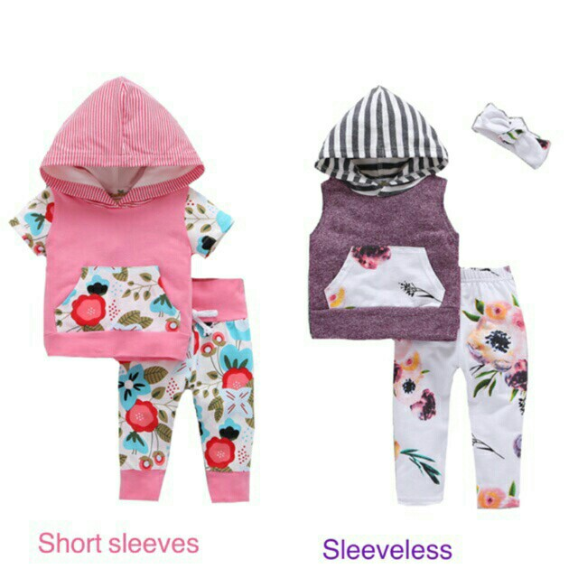 Boy and Girl Prints Hooded Jacket Terno