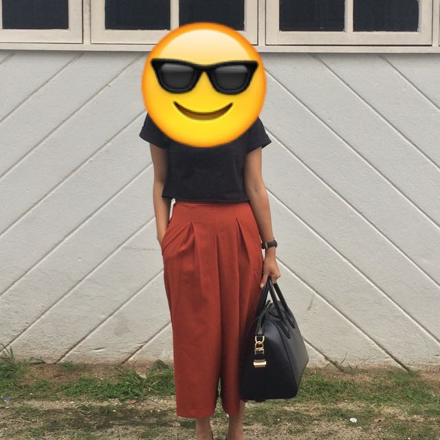 Brick Orange Culottes