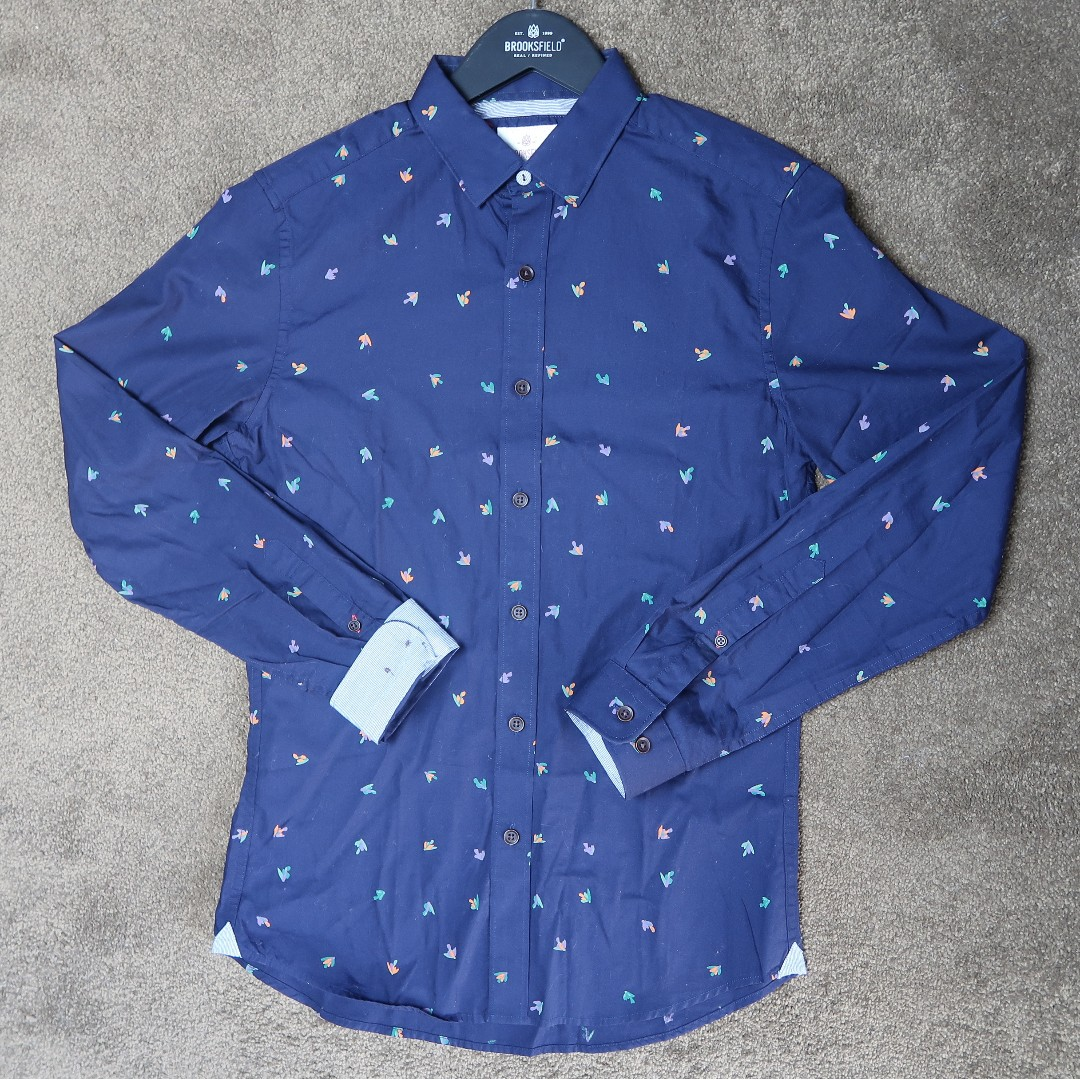 Brooksfield bird print casual shirt