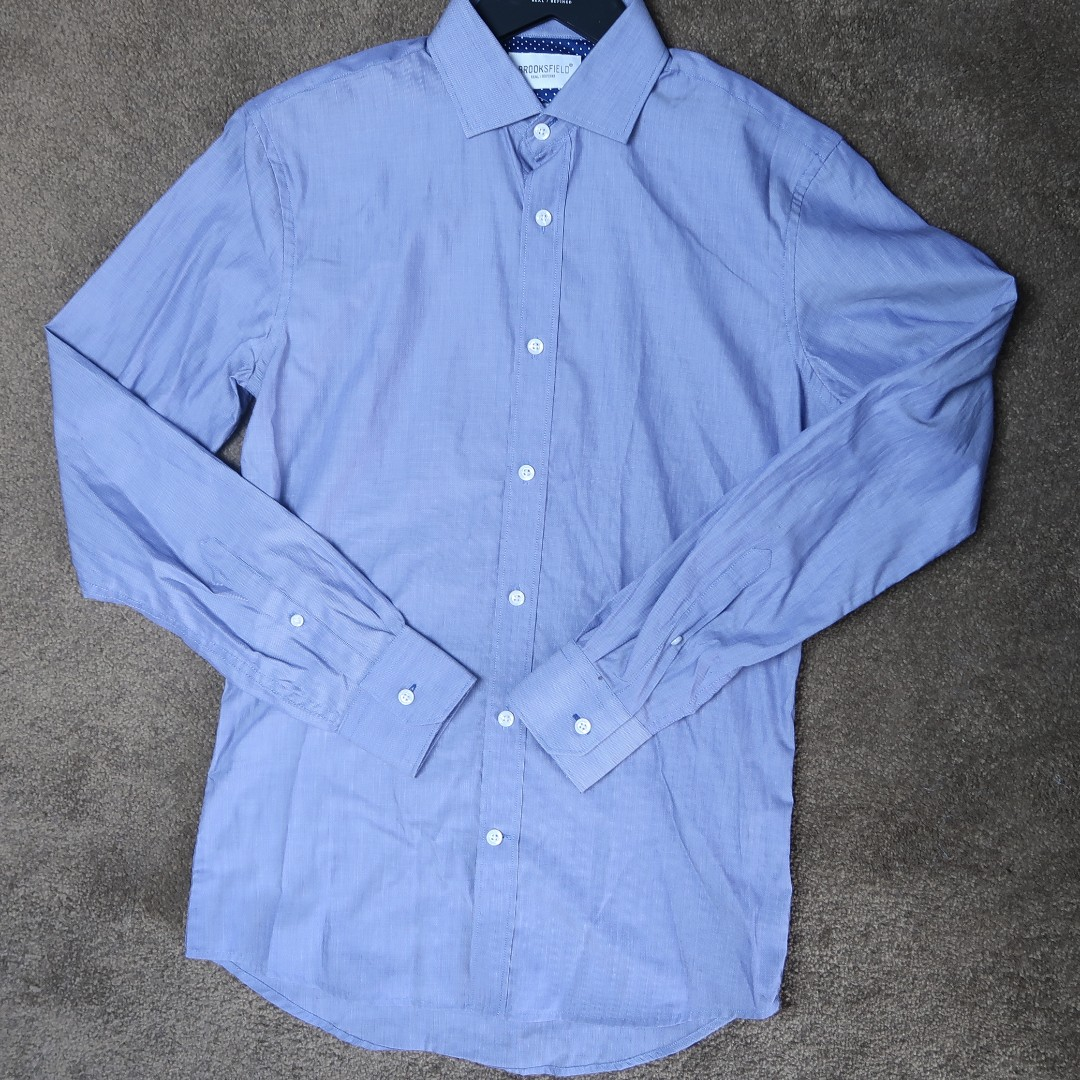Brooksfield chambray business shirt