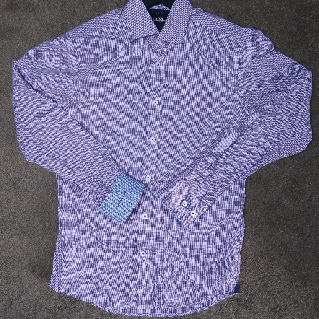 brooksfield ghost spot business shirt
