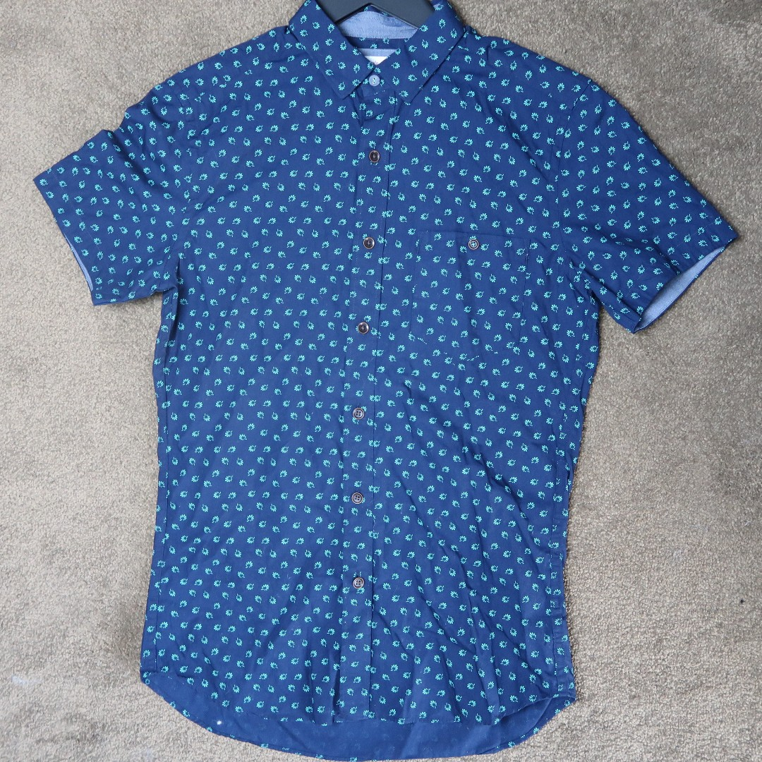 Brooksfield leaf print casual shirt