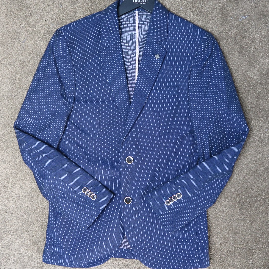 brooksfield navy with white spot blazer