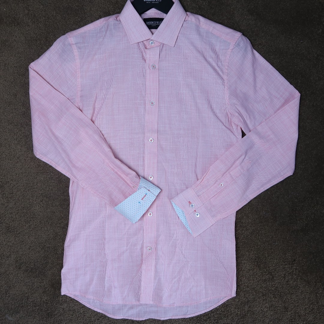 brooksfield salmon business shirt