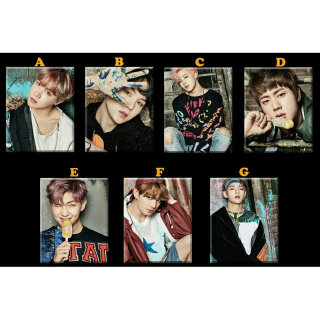 BTS Bangtan Boys KPop Photo Poster Ref Magnet Collectible
