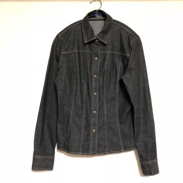 Burberry vintage 日版古著 女裝 牛仔襯衫 外套 size38 1月