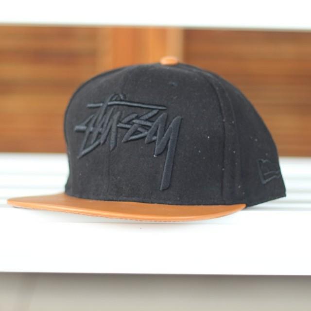 a5b6cabb412 Cap Topi STUSSY  snapback  (black grey)