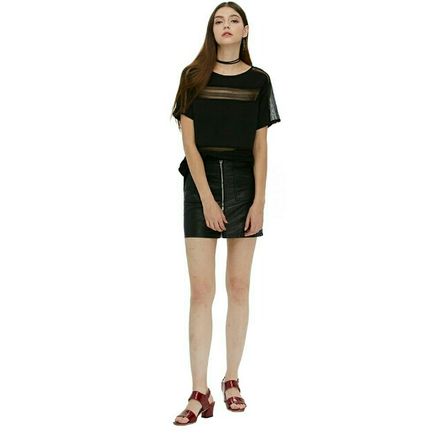 Chiffon Short-sleeve blouse