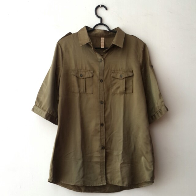 Cotton On Olive Shirt