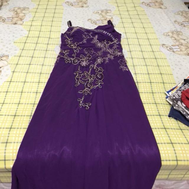 dress pesta purple