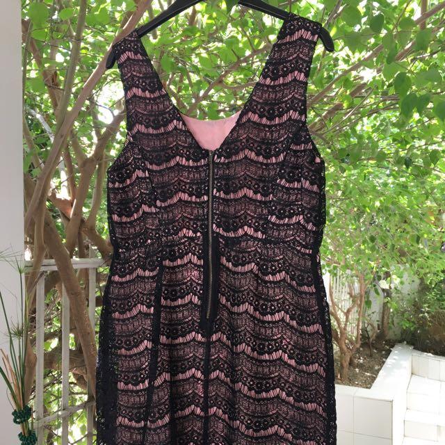 F21 black lace dress