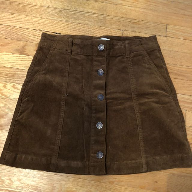 F21 suede skirt