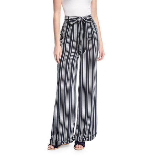 Finders keepers blue and white stripe pants