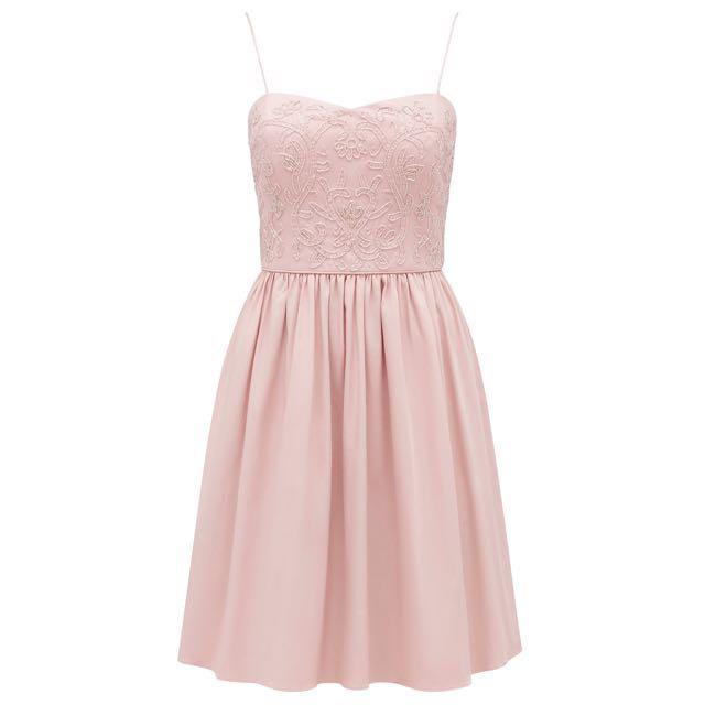 FOREVERNEW • Evie Embellished Sateen Prom Dress