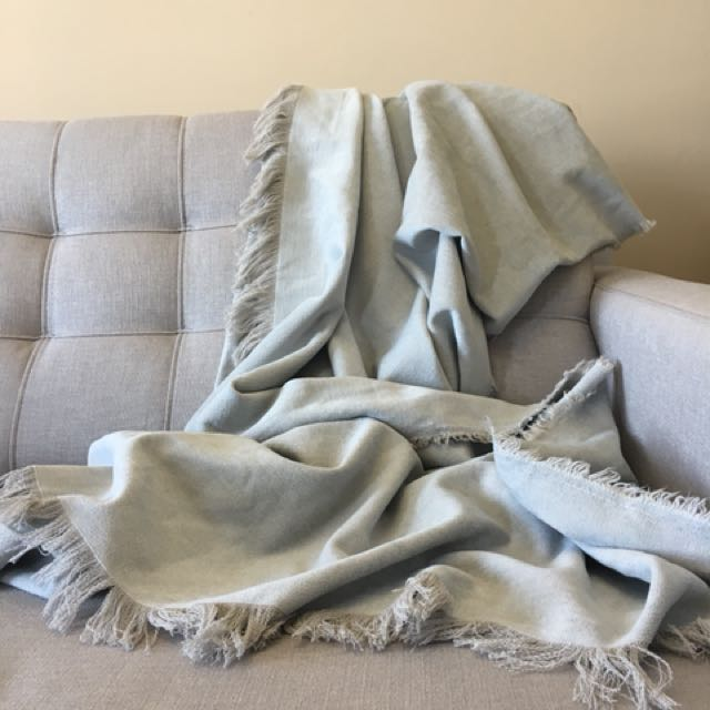 Grayish Blue Throw