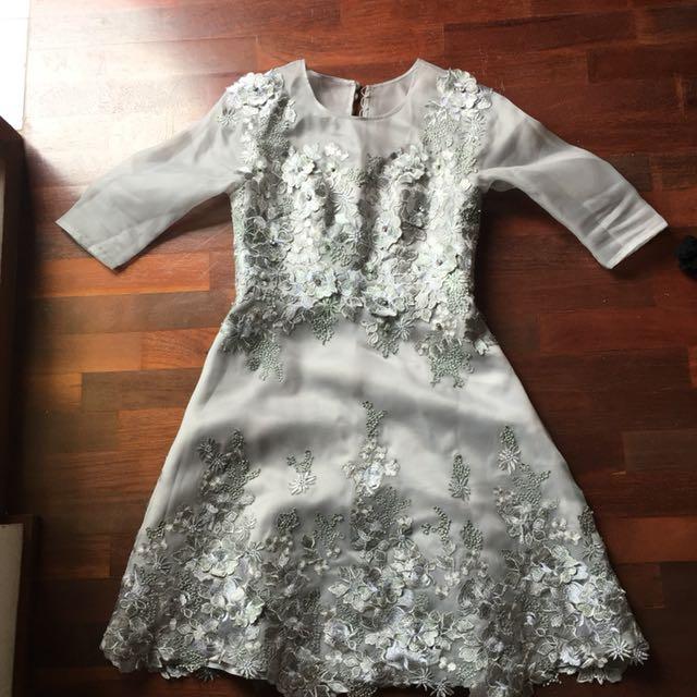 Grey dress custom made